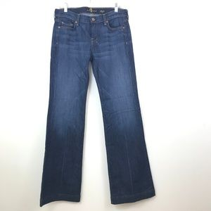 7 For All Mankind Dark Wash Dojos Size 28